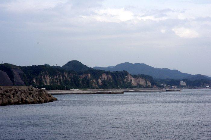 江口蓬莱周辺の海